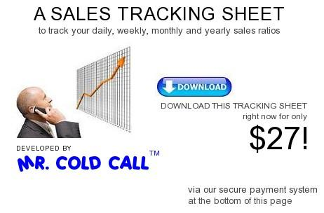 Mr. Cold Call Sales Tracking Sheet $27 - Track sales calls, contacts ...